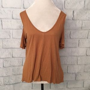 NWT Free People Cold Shoulder Swing Top